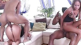 Fit to Fuck Russian Babes - 2on2 Black exceeding Characterless Anal Sex with DP