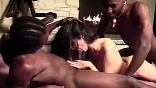 Inexperienced - Youthful Brunette - BBC Anal Threesome CIM Facials