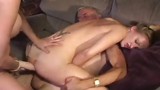Friend's Mother Makes Teen Take Old Man's Cock Up Rump