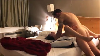 Hot amateur babe with moist pussy fucked in a motel